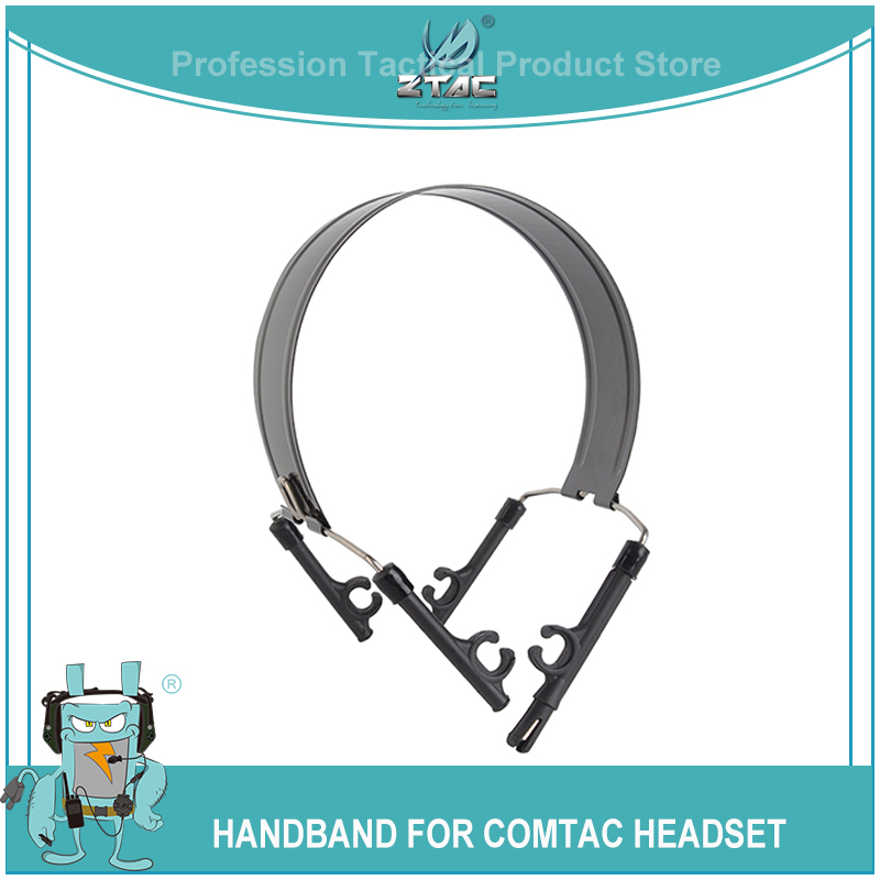 ZTAC Airsoft Tactcial Shooting Headphones Headband Hoop Bracket For Peltor Comtac II III Series Softair PTT Headset Accessories