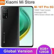 Globalna wersja Xiaomi Mi 10T Pro Smartphone 8 GB RAM 128 GB ROM Snapdragon 865 Octa Core 144Hz 108MP tylna kamera 6 67 #8222 DotDisplay tanie tanio Niewymienna 128G CN (pochodzenie) Android Zamontowane z boku ≈108MP 5000 Quick Charge 4 0 english Rosyjski Niemieckie
