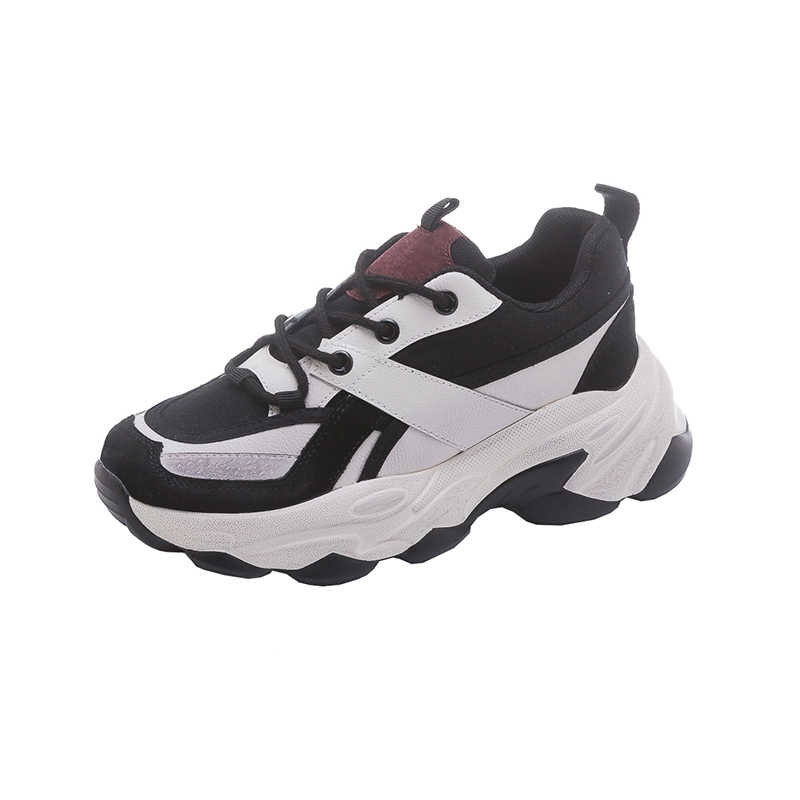 Frauen Papa Schuhe Gute Qualität 2020 Frühling Neue Ankunft Dame Turnschuhe Mädchen Studenten Casual Schuhe Dicke Sohle Lace Up Trainer chunky