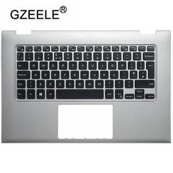 GZEELE новая клавиатура для ноутбука с британской раскладкой верхняя крышка для Dell INSPIRON 13 7000 7347 7348 7352 7353 7359 Клавиатура для ноутбука Подставка д...