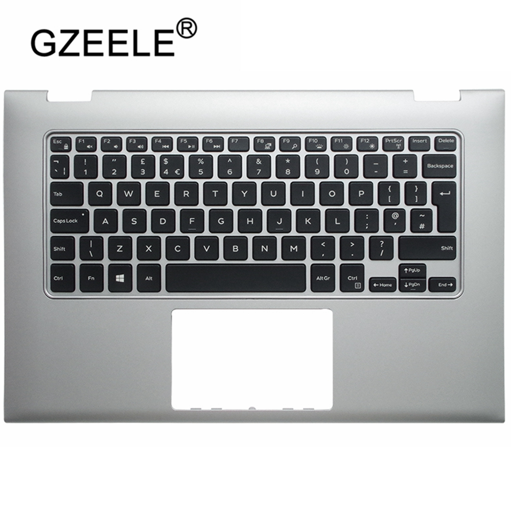 GZEELE NEW Laptop UK Keyboard Cover Upper For Dell INSPIRON 13 7000 7347 7348 7352 7353 7359 Laptop Keyboard Palmrest Case Bezel