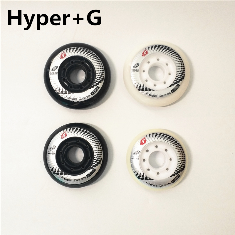 [72mm 76mm 80mm]Hyper +G Inline Skates Wheel 84A +Grip Freedom Concrete Roller Skating Rodas For SEBA High HV  Carbon