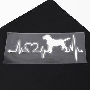 Image 5 - Labrador Retriever Heartbeat Love Decal Car Sticker Creative Auto Accessories