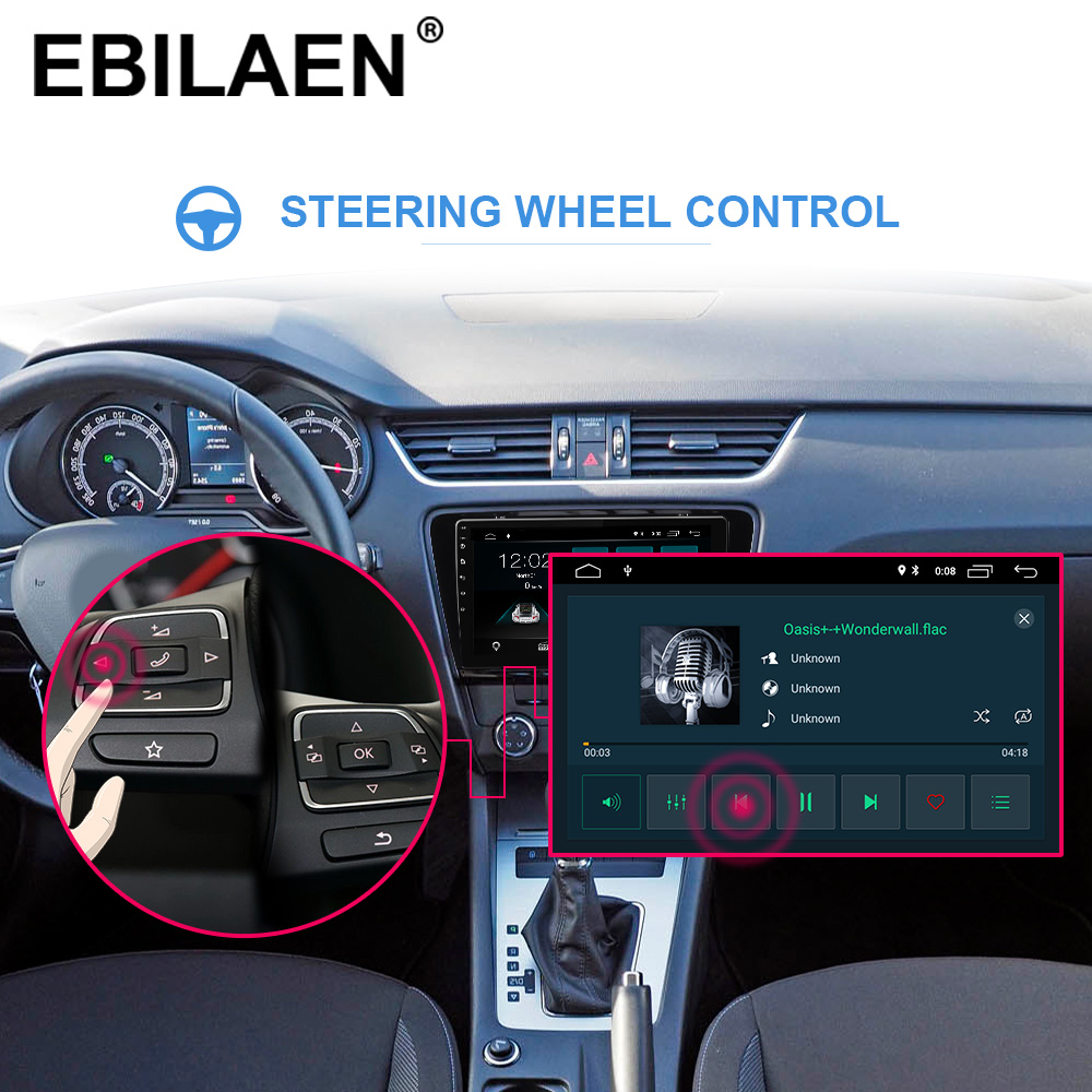 EBILAEN Car DVD Multimedia Player For Skoda Octavia A7 III 3 2014 2018 2din Android 9.0 Radio Auto Navigation GPS Rear Camera - 3