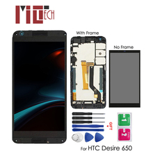 LCD Display For HTC Desire 650H 650 Touch Screen Digitizer Assembly Replacement Repair Black with Frame 5.0''+ Tools black for htc desire x t328e lcd display screen with touch screen panel digitizer assembly high quality with free tools