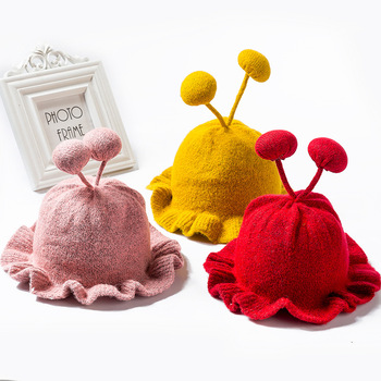 Winter Warm Baby Beanies Hat Pompon Children Hats Knitted Cute Cap For Girls Boys Caps Casual Solid Color Girls Hat Kids Beanies 2016 hot winter hat fashion brands baby girls big ball wool cute hat beanies thick warm knitted hat for 4 10yrs children
