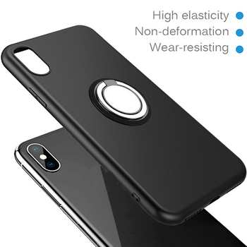 Soft Case Cover for Alcatel One Touch Idol 3 5 5S U5 HD 6045Y 6039Y Shine Lite 5080 Magnetic Car Finger Ring Holder image