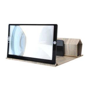 AMPLIFICADOR DE vídeo estereoscópico portátil, soporte de grano de madera, peso ligero y plegable, alta definición, 12in