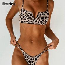 Rivertrip Sexy Leopard Bikini Push Up Swimsuit Female New Swimwear Women Strap Bathing Suit 2019 Swimming for