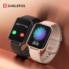 SANLEPUS – montre connectée pour hommes et femmes, bracelet avec appels Bluetooth, étanche, lecteur MP3, pour Android iOS, OPPO vivo, Huawei, nouveau, 2021