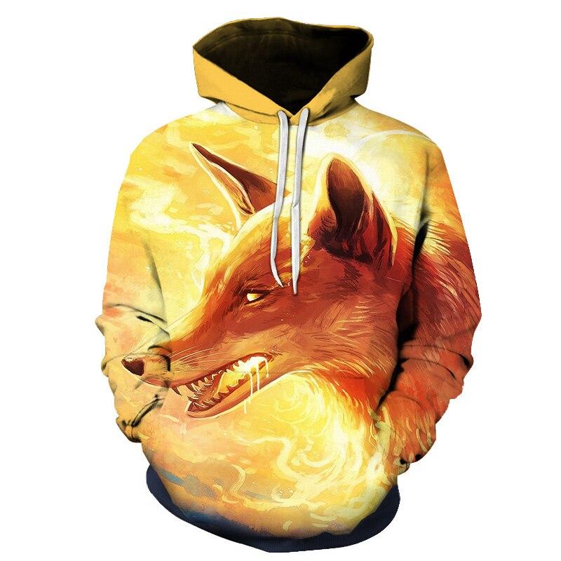 Wolf Printed Women 3d Hoodies Brand Sweatshirts Girl Boy Jackets Pullover Fashion Tracksuits Animal Streetwear Lovers Sweatshirt 83