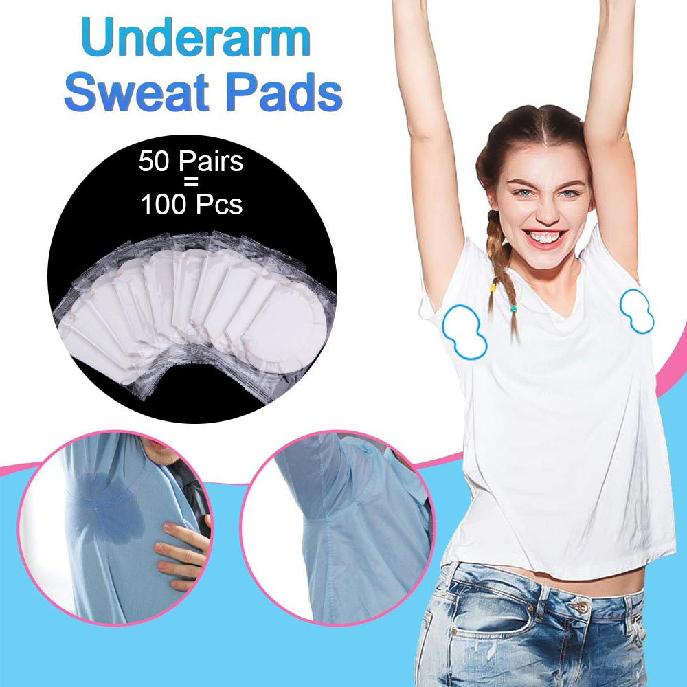100/200pcs Underarm Sweat Pads Absorb Liners From Armpit Stickers Anti Armpits Pads Clothes Deodorant Antiperspirant For Men