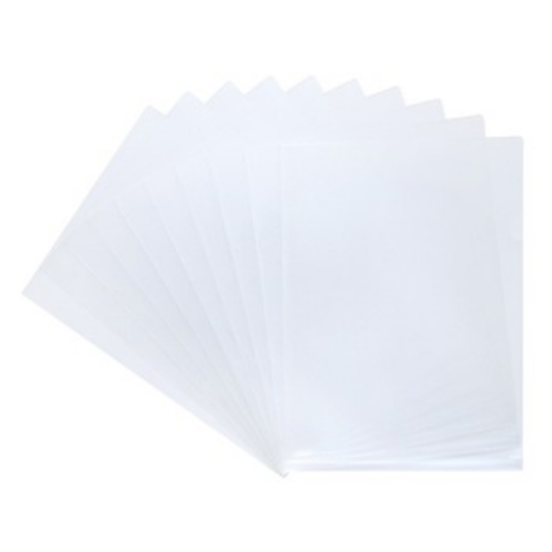 30 Pieces/lot A4 Single Clip Transparent Documents Cover L-shape File Presentation Folder Office Supplies Paper Protective Cover