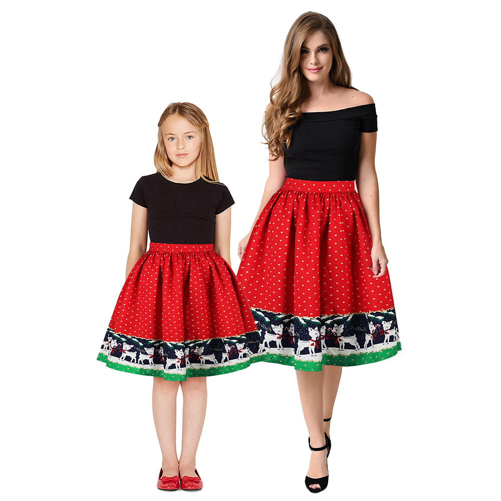Christmas Girls Dress Teens Girls Party Dresses For Girls Family Matching Outfits New Year Mom Daughter Dresses Carnival Dress (4)