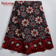 Kalume African Swiss Cotton Lace Fabric New Style Nigerian Swiss Voile Lace In Switzerland Stone Swiss Cotton Lace Fabrics F2327