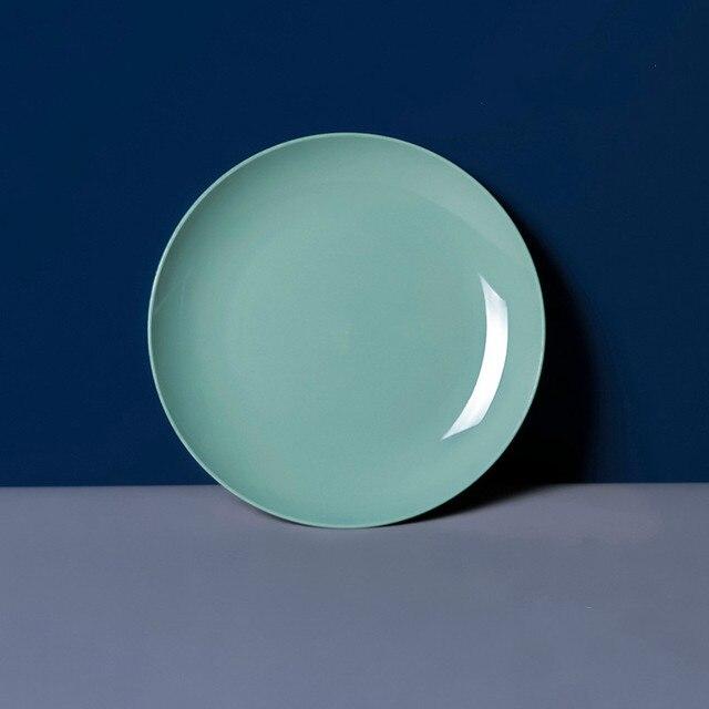 Kitchen Plastic Food Sauce Dish Small Vinegar Taste Board Snack Plates Creative Imitation Porcelain Round Household Fruit Plate 4