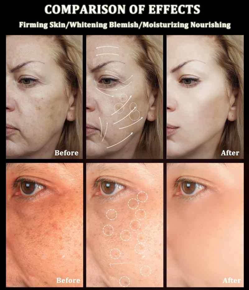 חילזון פנים קרם מזין אור מרקם קרם מרענן לחות עור לילה קרם להאיר קווים דקים נשים גברים TSLM1