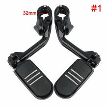 Samger Motorcycle Foot Pegs Universal 32mm Engine Guard Highway Short&Long Angle Foot Peg Mount Kit For Harley Sporter