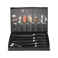 Set of kitchen knives for chef high carbon stainless steel laser decorative pattern of Damascus steel
