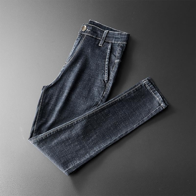 2019 Autumn Main Push-Korean-style Jeans Men's Elastic Waist Elasticity Slim Fit Skinny Pants Men'S Wear