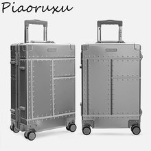 "Piaoruxu 20 ""26"" 29 ""100% アルミ合金トロリー旅行バッグスーツケーススピナーハードケース荷物"