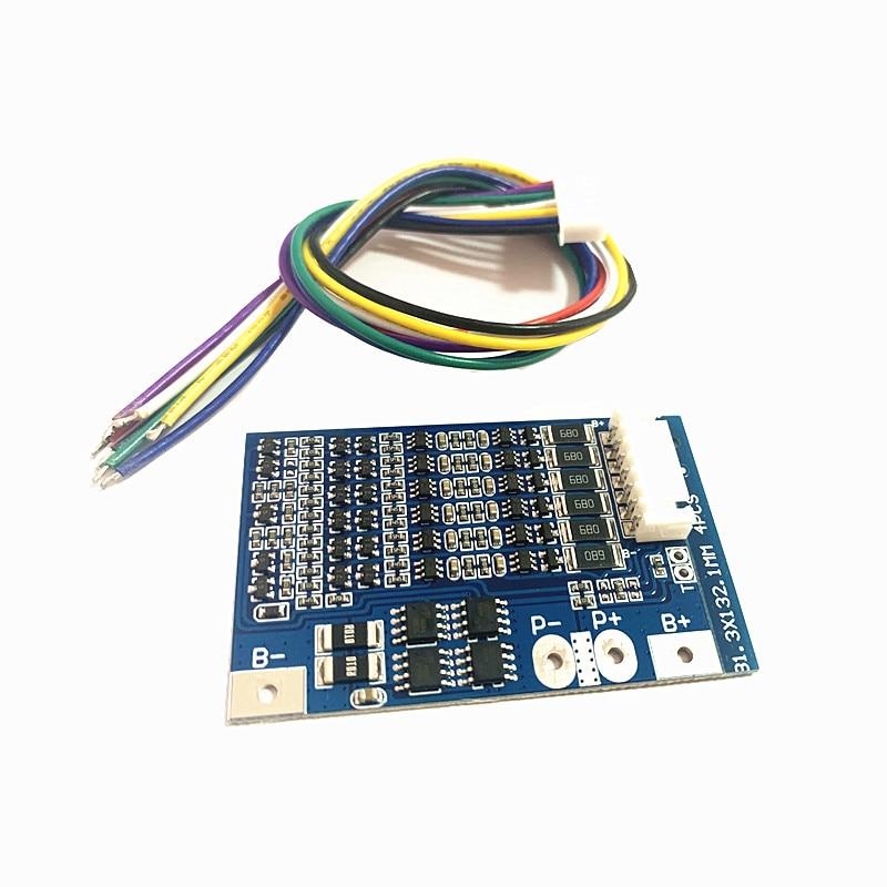 Balance BMS 6S 20A 22.2V Lithium Battery Protection Board 18650 Lithium Battery Protection Board 25.2V Anti-overcharge/Lipo BMS