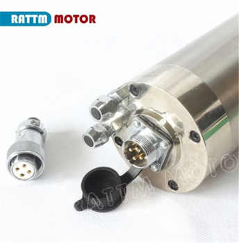 RU ship Quality Waterproof 2.2KW Water Cooled CNC Spindle Motor Carved Metal 4 BEARINGS ER20 220V for CNC Engraving Milling