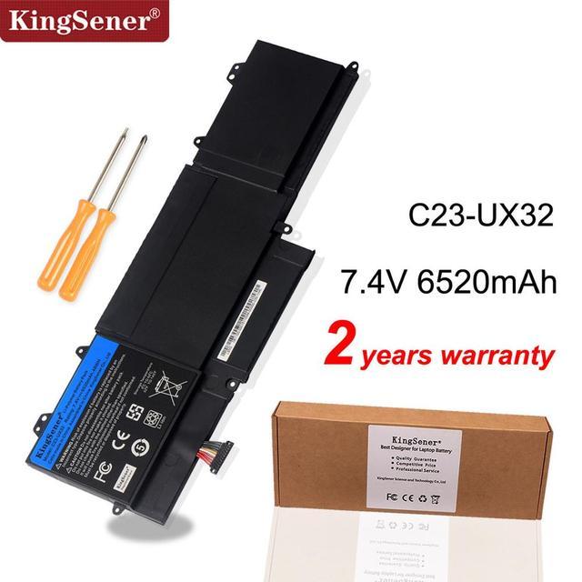 KingSener New C23 UX32 Laptop Battery for ASUS VivoBook U38N U38N C4004H ZenBook UX32 UX32V UX32A UX32VD 7.4V 6520mAh