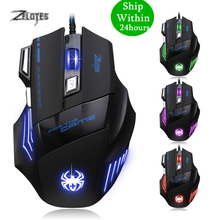 ZELOTES T 80 7200 DPI Backlight Multi Color LED Optical 7 Button Mouse Gamer USB Wired Gaming Mouse for Pro Gamer