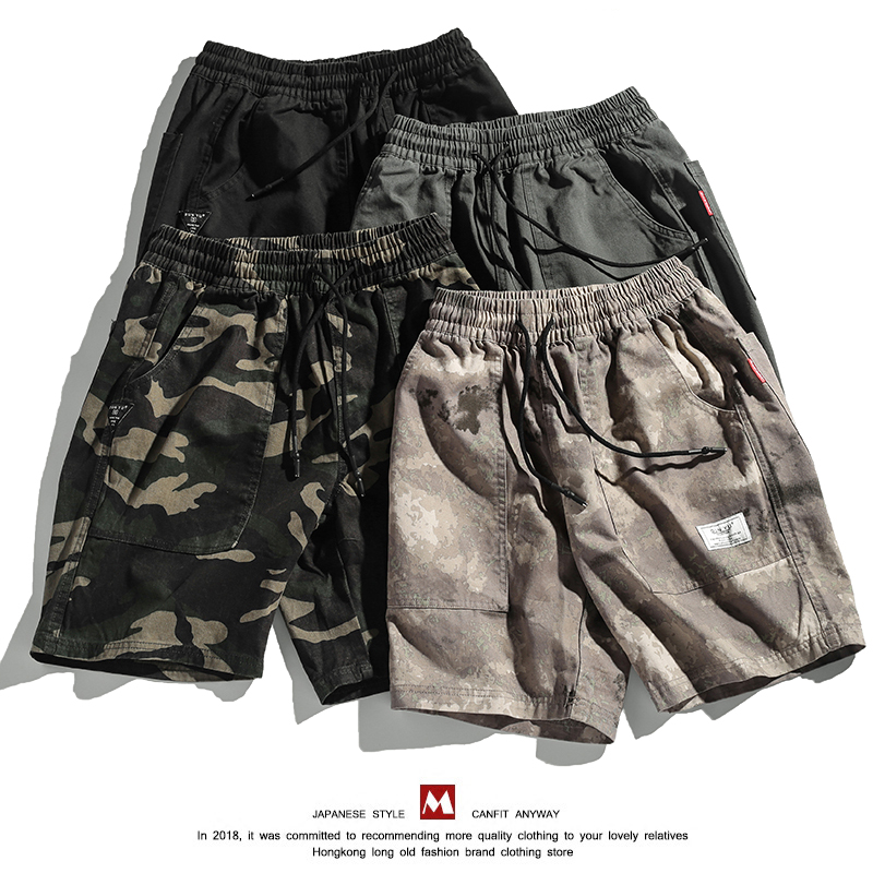 Military Men Shorts Casual  Summer Vintage Cargo Shorts Camo Loose Fashion With Pockets Cotton Kleding Vanquish Fitness XX60MS