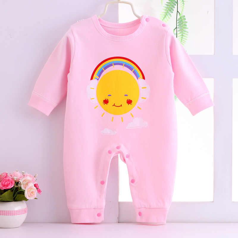 2019 для новорожденных, детская одежда для девочек с длинными рукавами комбинезон Детская осенняя одежда для малышей, одежда, комбинезон детский