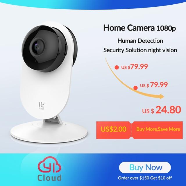YI Macchina Fotografica A Casa 3 1080P HD AI Smart Home, Casa Intelligente A Base di Telecamere di Sicurezza Wireless IP Cam di Visione Notturna Ufficio VERSIONE di Ue android YI Nube 1