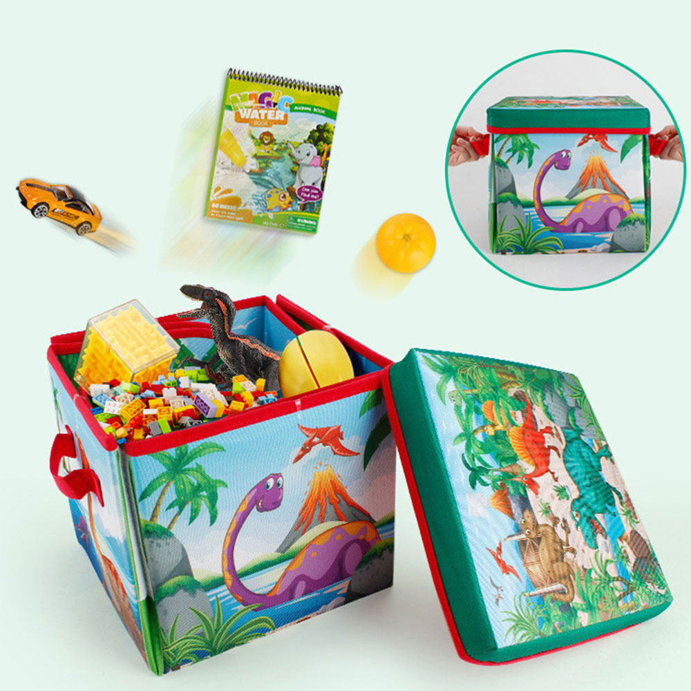 NEW Outdoor Foldable Storage Toy Box Children's Carpet Crawling Mat Dinosaur Scene Game Pad Portable Kids Play Mats Crawling Mat