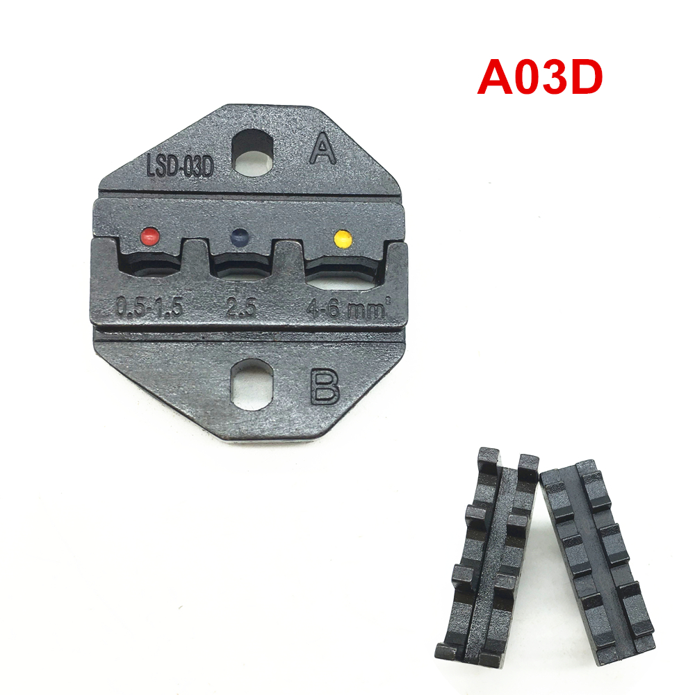 Crimp die set <font><b>A03D</b></font> for crimping insulated terminal and cable links 20-10AWG 0.5-6mm2 image