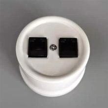 Porcelain Internet surface Mounted Socket Computer RJ45 Wall Socket