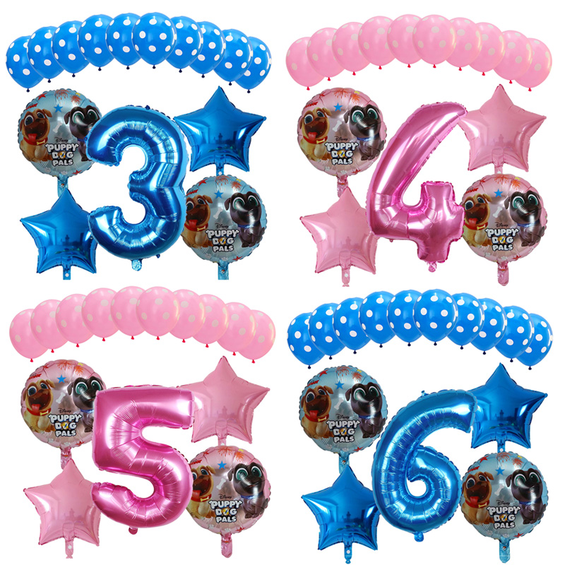 15pcs Lot Puppy Dogs Pals Foil Balloon 30 Inch Number Balloons Baby 1st Birthday Party Decorations Globos Toys For Kids Balloon Ballons Accessories Aliexpress