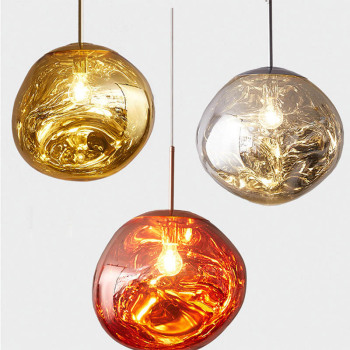Lava Pendant Lights Melt Pendant Lamp  For Living Room Kitchen Bar Hanging Lamps Glass Light Fixture Dinning Room E27/26 Stone modern pendant lights spherical design white aluminum pendant lamp restaurant bar coffee living room led hanging lamp fixture