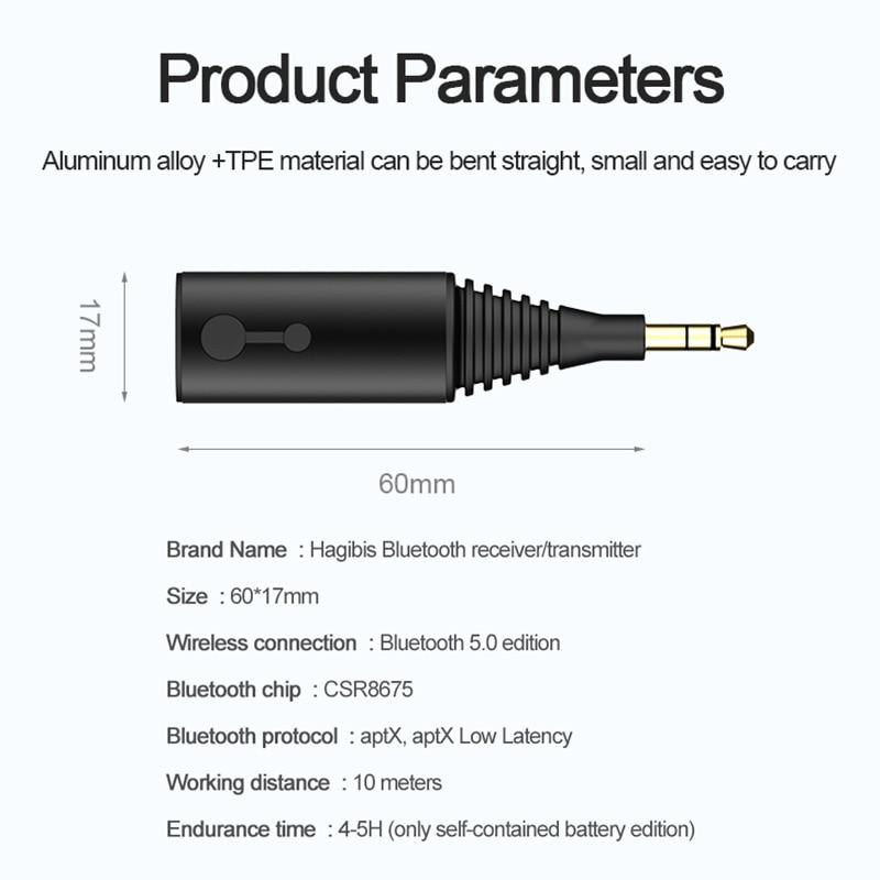 Clearance SaleHagibis Transmitter Headphone-Speaker Music-Adapter Bluetooth-Receiver Audio-Tv Aptx Ll