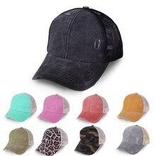 Hat Baseball-Cap Women Mesh Cotton Patchwork Trucker-Hat Hip-Hop Dad New-Brand