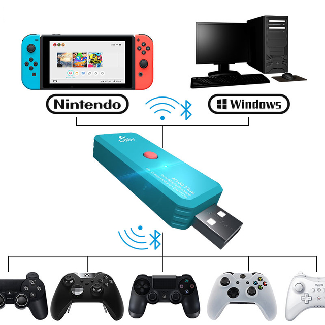 AOLION Coov N100 PLUS for PS4/Xbox One wireless controller Converter Adapter to Nintendo Switch Wired GamePad Joystick Converter