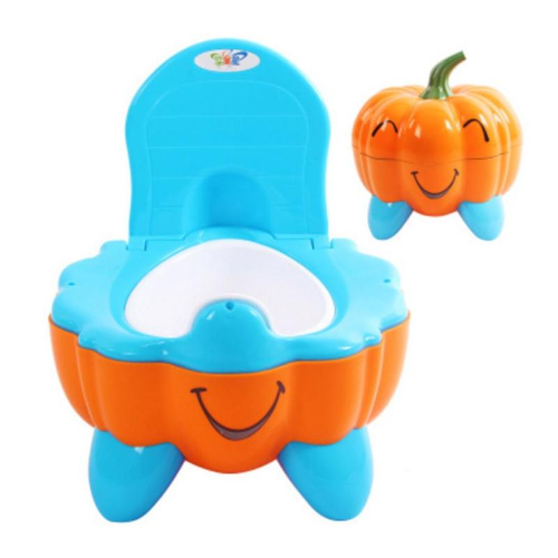 Cute Pumpkin Cartoon Baby Potty Toilet Bowl Training Pan Toilet Seat Bedpan Tool Rugged Durable With Long Lasting Life