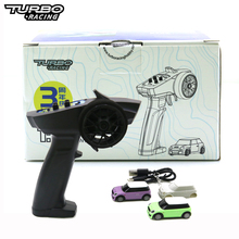 Turbo Racing 2pcs 1:76 RC Car And 2.4GHZ Remont Controller Electric Race RTR Experience RC Patent Car Children Toys Gift