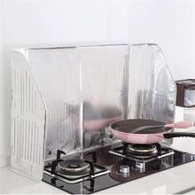 Kitchen Cooking Frying Pan Oil Splash Shield Screen Cover Gas Stove Anti Splatter Guard Oil Divider Splash Proof Baffle Tools