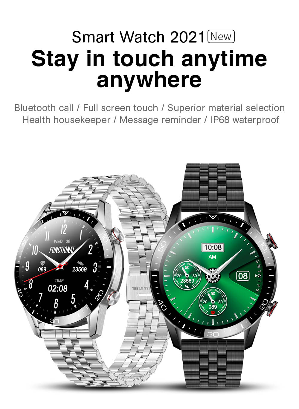 H1e1451d2fa32444dab089768253d234dV TK2-8 Smart Watch For Men Bluetooth Call IP68 Waterproof Blood Pressure Heart Rate Monitor New SmartWatch Sports Fitness Tracker