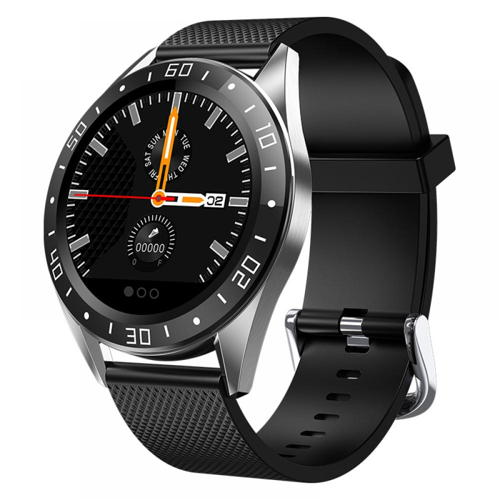 <font><b>Smartwatch</b></font> <font><b>GT105</b></font> 1.22inch Heart Rate Blood Pressure Monitor Sports Smart Watch Weather Push Music Control for IOS Android image