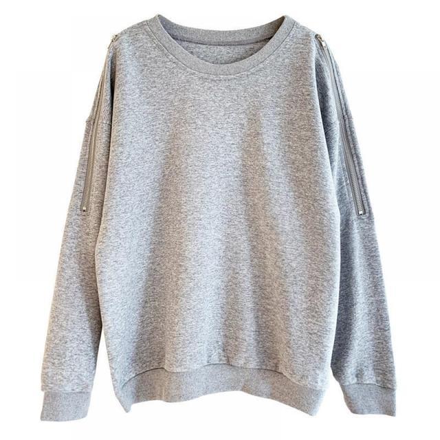 Купить женский укороченный пуловер свободный топ с длинным рукавом
