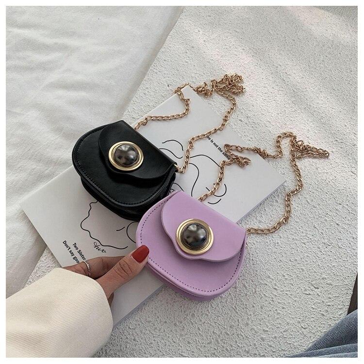 Mini Fashion Pu Soild Color Saddle Bags For Women Small Bag Leather Handbags And Lady Shoulder Bags Cross Body Bag (3)