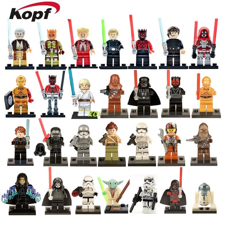 Single Sale Building Blocks Figures Count Dooku Luke Skywalker Darth Maul Jedi Knight C-3PO Bricks For Children Christmas Toys