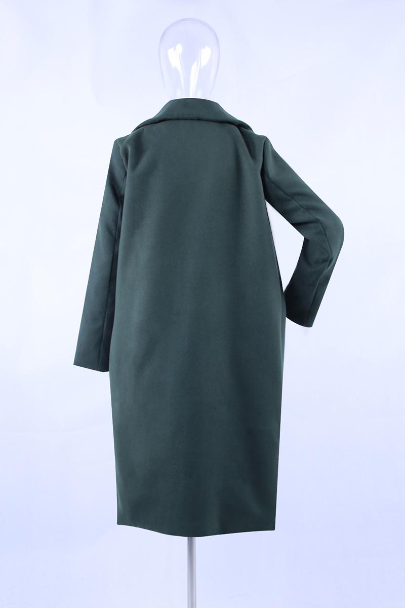 1PC Spring Autumn Women's Wool Coat New Fashion Long Woolen Coat Single Breasted Slim Type Female Autumn Winter Wool Coats 19
