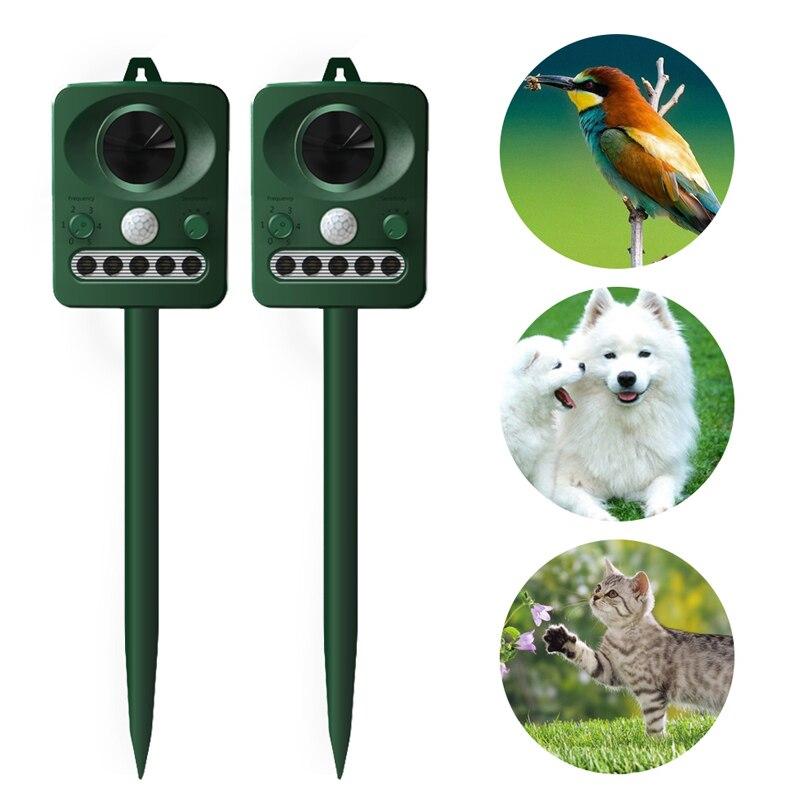 Ultrasonic Cat Repeller Solar Power Bird Repeller Infrared Detector Animal 0.12A RC-512 Electronic Ultrasonic Dog Repeller
